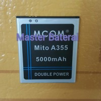 Baterai Battery Mito A355 Double Power 3800mah