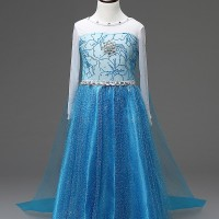 Jual REAL PICTURE NO EDIT Kostum Elsa Frozen, Dress Baju Pesta Import Gaun. Murah
