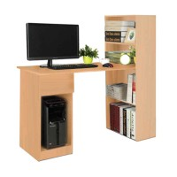 Meja Komputer Dengan Rak Buku Coklat Muda / Meja Kerja / Meja Kantor