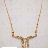 Yaxiya (anting cincin gelang liontin) kalung koye dewasa gold18k 087