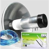 Antena Wajanbolik / wajan bolic Penguat sinyal wifi