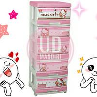 Jual Lemari Plastik Laci Serbaguna Napolly 5 Susun Hello Kitty Pink Cantik Murah