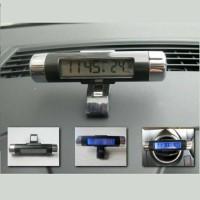 Jual Jam Digital LED LCD Termometer Temperatur Tempel Mobil (K011JMJ) Murah
