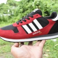 Sepatu Adidas ZX 1000 Grade Ori / Merah Hitam / sport casual pria