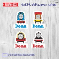 sticker label nama anak kartun cowok boy thomas train kereta SLNAG-003