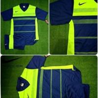 Setelan Jersey Bola Futsal Lokal Polosan Nike Navy Stabilo