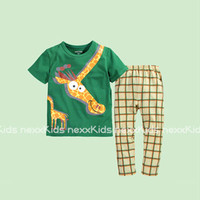 Baju Setelan Tidur / Piyama Anak - GREEN GIRAFFE (SL1616) - 1302