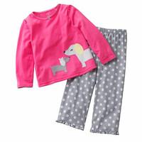 Baju Setelan Tidur / Piyama Anak - PINK PUPPY - 1302