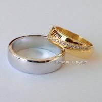 Cincin kawin / tunangan emas dan palladium custom