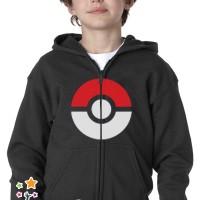 Jual Hoodie Zip / Jaket Sweater Pokemon Pokeball Anak Murah