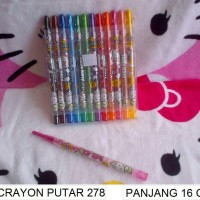 Pensil Warna/Crayon Putar/Alat Mewarnai Hello Kitty