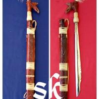 harga Mandau baja putih ukir kuningan senjata khas dayak Kalimantan Tokopedia.com
