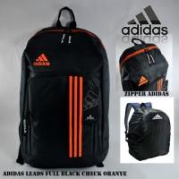 Ransel Adidas Leads Full Black Check Oranye