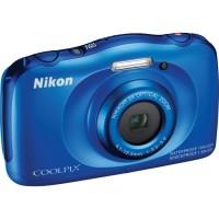 KAMERA UNDERWATER NIKON COOLPIX S33 BLUE / BIRU WATERPROOF FREE MEMORY