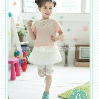 pakaian anak perempuan / baju setelan kaos rok tutu leging GW 93A