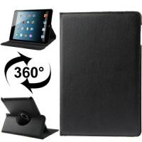 360 Degree Rotatable Leather Case for iPad (iPad 3) / iPad 2 - Black