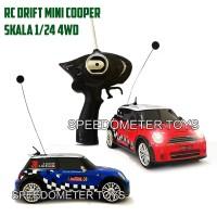 RC Mobil Drift 4WD Body Metal Mini Cooper 1/24 | Mainan Edukasi Anak