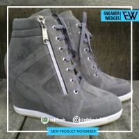 Jual Sneaker Wedges Grey Murah