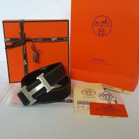 JUAL BELT HERMES BLACK SHW REVERSIBLE BELT MIRROR QUALITY