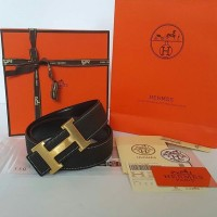 JUAL BELT HERMES BLACK GHW REVERSIBLE BELT MIRROR QUALITY