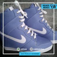 sneaker hidden wedges sepatu wanita nike adidas platform heels