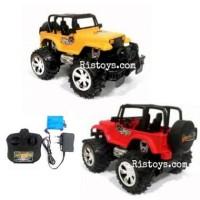 Rc Mobil Bigfoot Storm Jeep Warna Kuning / Free Baterai Battery Aa