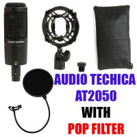 Audio Technica AT2050 + Pop Filter