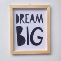 harga Wall decor / Printed poster / Poster kayu -  Dream Big Tokopedia.com