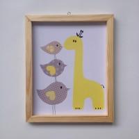 harga Wall Decor / Printed Poster / Poster Kayu - Giraffe Tokopedia.com
