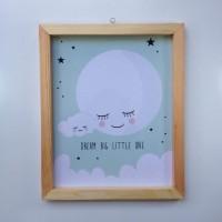 harga Wall Decor / Printed Poster / Poster Kayu - Greeny Moon Light Tokopedia.com