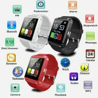 Jual SMARTWATCH U8 / SMART WATCH U8 RED BLACK WHITE Murah