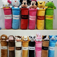 harga guling  hello kitty, doraemon, mickey minnie, keroppi, winnie the pooh Tokopedia.com