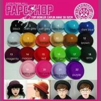 Topi Anak Bundar/ Topi Chap Warna