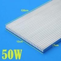 60W DIY Aquarium LED Heatsink Aluminum Plate 120Cm x13Cm x9.5mm