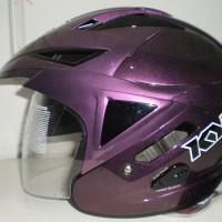 Helm KYT Scorpion King Purple Solid Half Face Visor Ungu Glossy