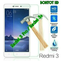 TEMPERED GLASS XIAOMI REDMI 3S / 3 PRO / 3X ANTI GERES KACA REDMI3 S