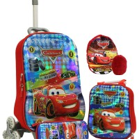 Onlan Cars MCQueen 6Ds Trolley Anak 3in1 Set