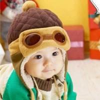harga topi pilot korea anak ( korean cap bayi, kupluk balita gaul ) Tokopedia.com