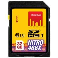 Strontium Nitro 466X SDHC UHS-1 70MB / S Class 10 32GB - SRN32GSDU1 - Ye