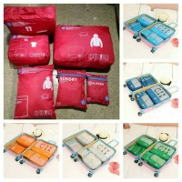 Jual Tas Dalam koper, 6 in 1 Bag / Travel Organizer Bag (6 pcs) Murah