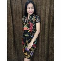 dress cantik batik tulis tricot murah