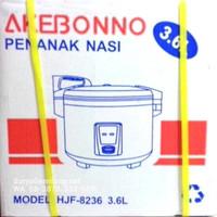 Rice Cooker Akebonno HJF8236 Besar 3,6liter Teflon Asli, Baru, Garan