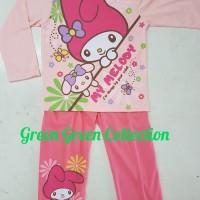 Baju Tidur Anak/setelan/piama Anak/piyama Kaos My Melody Long 14,16,18