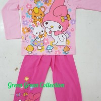 Baju Tidur Anak/setelan/piama/piyama Kaos My Melody Rabbit 14,16,18