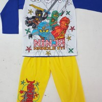 Baju tidur anak/setelan/piama/piyama kaos Ninja Go Long 14,16,18