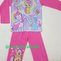 Baju tidur anak/setelan/piama/piyama kaos Little Pony Long 8,10,12