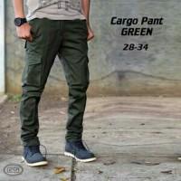 Jual Celana Cargo Pants Green / Celana Jeans Skinny / Celana Pria Murah