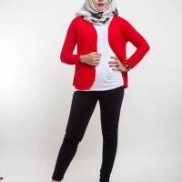Baju Setelan Cewek Wanita RED TOP HIJAB Terbaru Murah Cantik