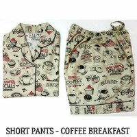 coffe breakfast shortpants pajamas