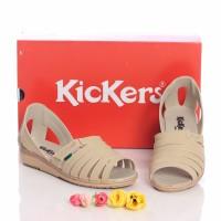 Jual sandal sepatu wedges wanita kickers Murah